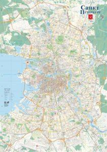 карта Петербурга и Ленинградской области